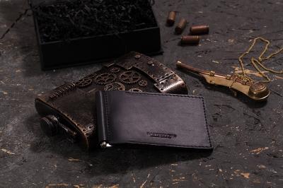 501-Зажим для денег Kleo Black